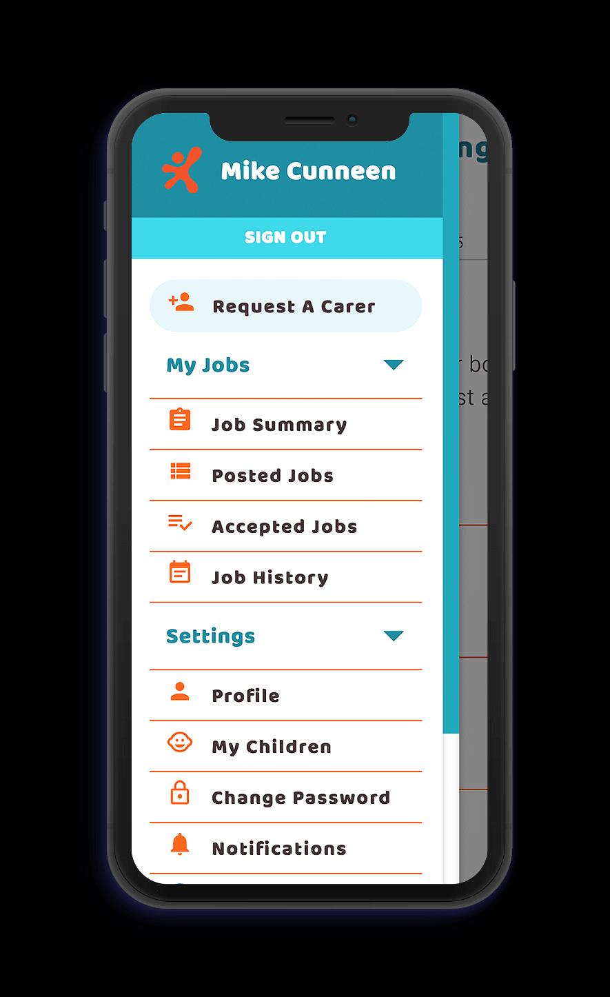 The Kin Sitters app
